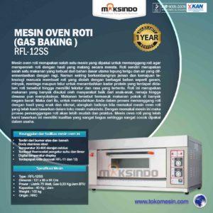 Jual Mesin Oven Roti Gas 2 Loyang (MKS-RS12) di Malang