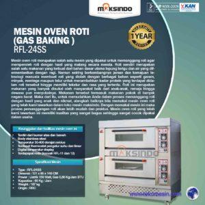 Jual Mesin Oven Roti Gas 4 Loyang (MKS-RS24) di Malang