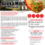 Training Usaha Aneka Mie dan Toping, 22 Oktober 2017