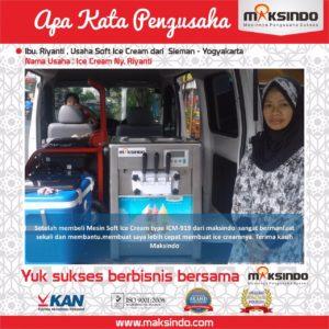 Ice Cream Ny. Riyanti : Usaha Saya Makin Lancar Berkat Mesin Es Krim Maksindo