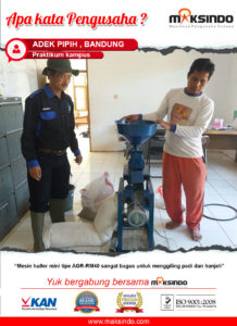 Praktikum Kampus : Mesin Huller Maksindo Mudahkan Penggilingan Padi