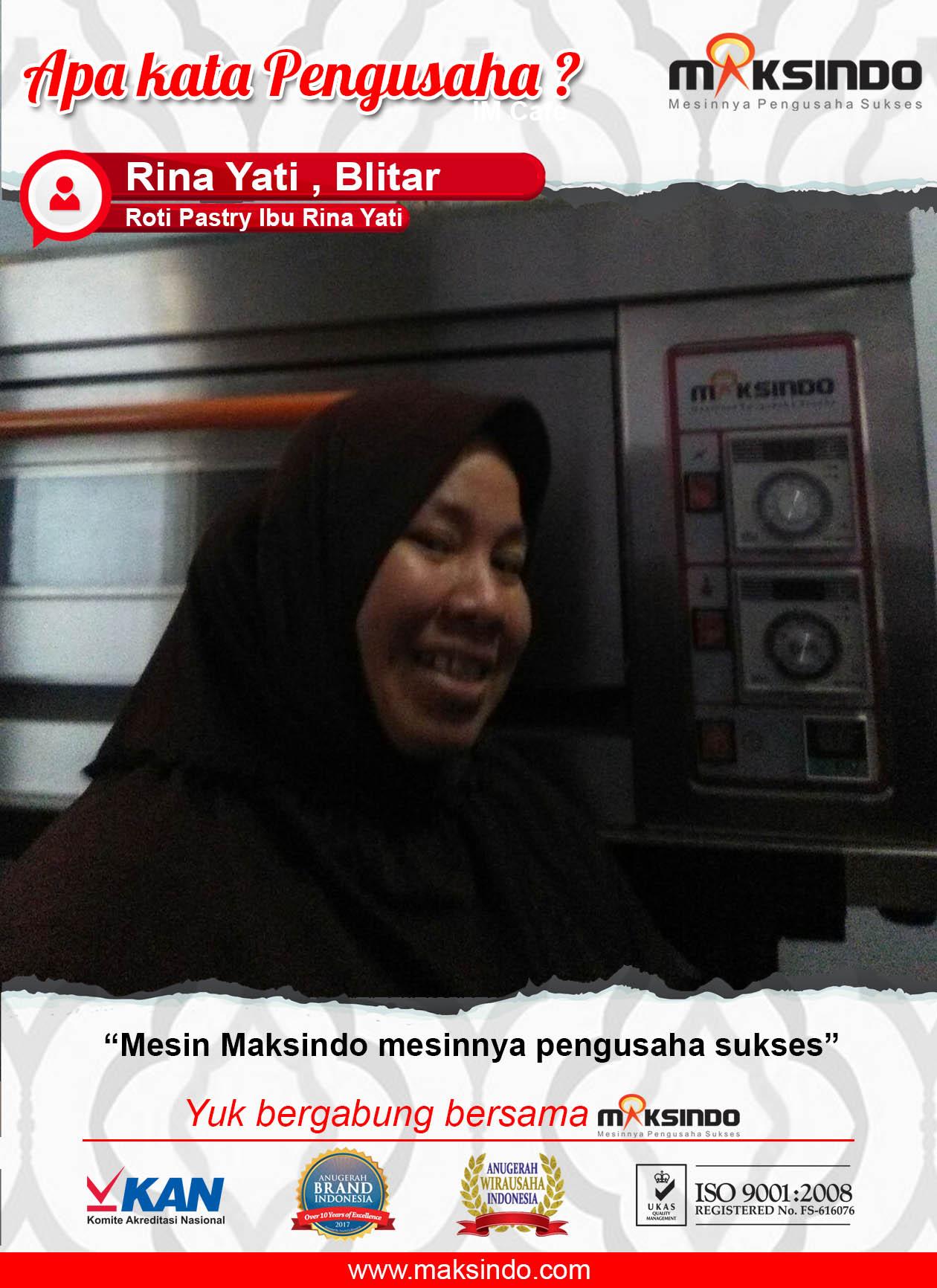 Roti Pastry Ibu Rina Yati: Mesin Maksindo Mesinnya Pengusaha Sukses