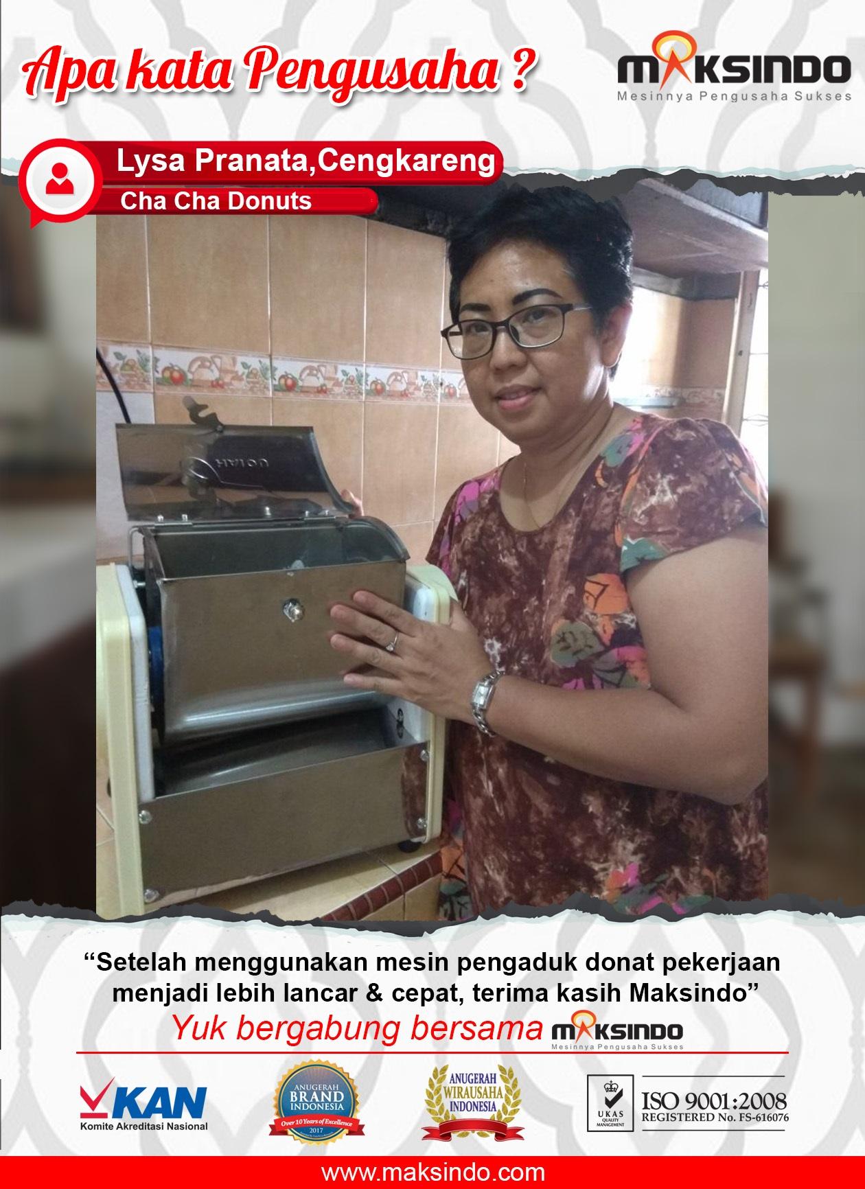 Cha Cha Donuts : Pekerjaan Semakin Lancar Dan Cepat Dengan Mesin Pengaduk Dari Maksindo