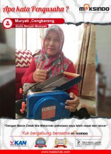 Sistik Renyah Moeryati : Usaha Saya Jadi Cepat dan Lancar Dengan Mesin Cetak Mie Maksindo