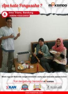 Terere FoodnDrink : Terbantu Dalam Usaha Jajanan Kuliner Menggunakan Mesin Egg Roll Maksindo