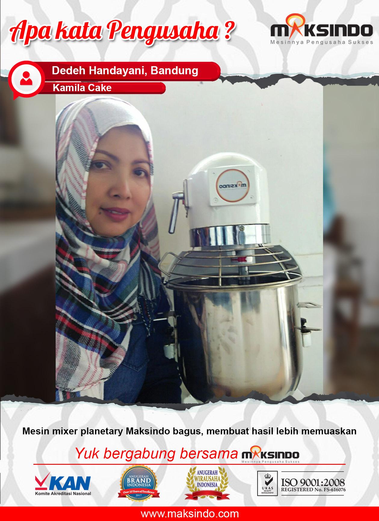 Camila Cake : Dengan MIxer Planetary Maksindo Usaha Saya Semakin Menguntungkan