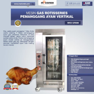 Jual Pemanggang Ayam Gas Rotisseries Vertikal di Malang