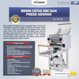 Jual Mesin Cetak Mie dan Press Adonan MKS-900 di Malang