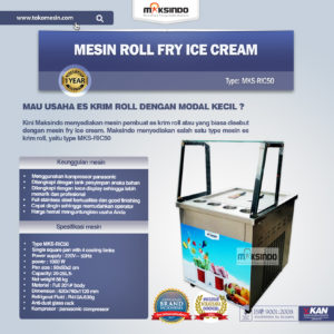 Jual Mesin Roll Fry Ice Cream RIC50 di Malang