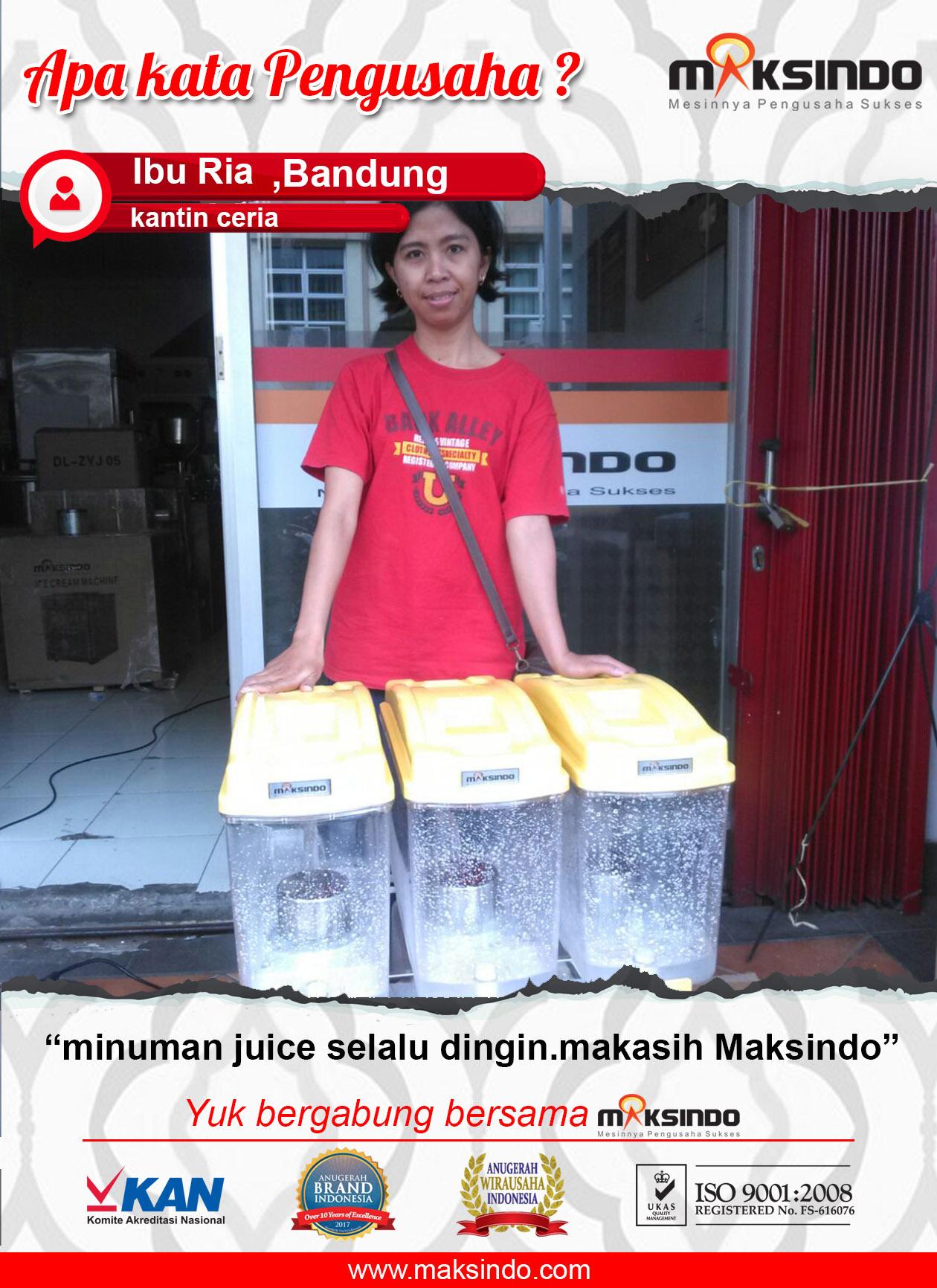 Kantin Ceria : Mesin Juice Dispenser Membuat Minuman Jus Selalu Dingin