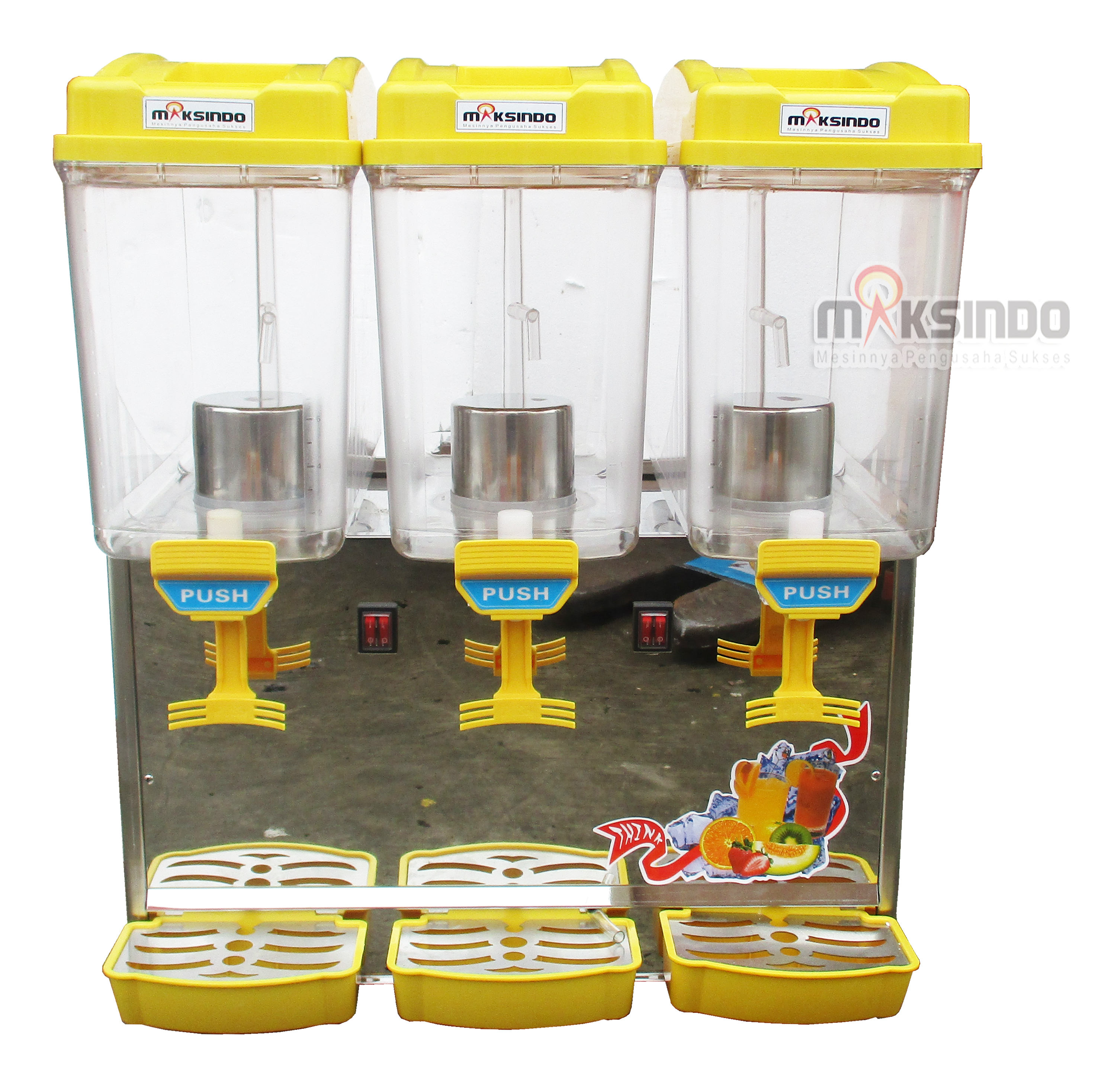 Jual Mesin Juice Dispenser 3 Tabung (17 Liter) – DSP17x3 di Malang