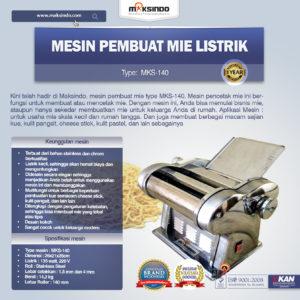 Jual Mesin Pembuat Mie Listrik – MKS-140 di Malang