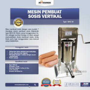 Jual Mesin Pembuat Sosis Vertikal MKS-5V di Malang