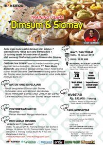 Training Usaha Dimsum dan Siomay, 13 Januari 2018
