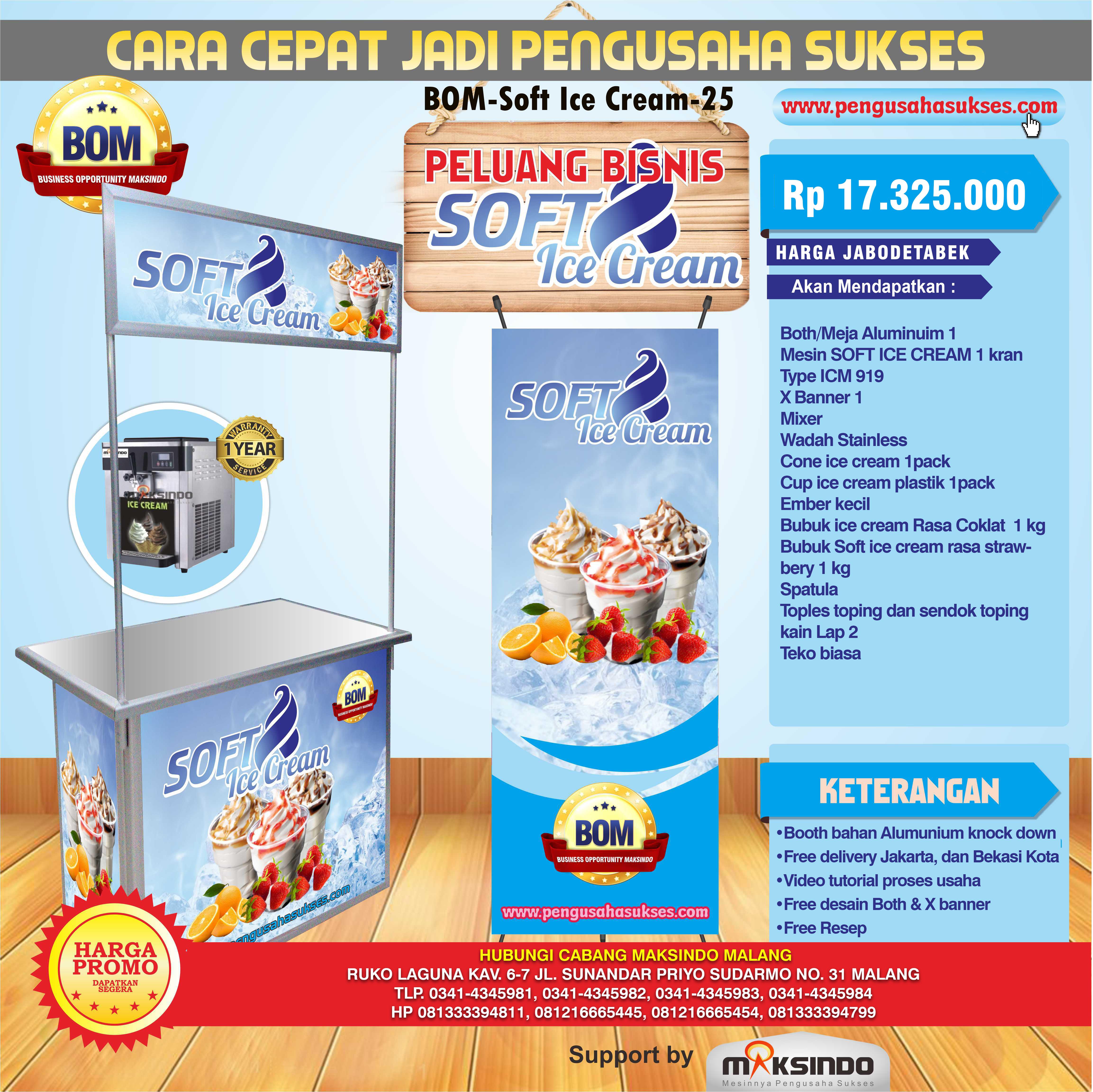 Peluang Usaha Soft Ice Cream Program BOM