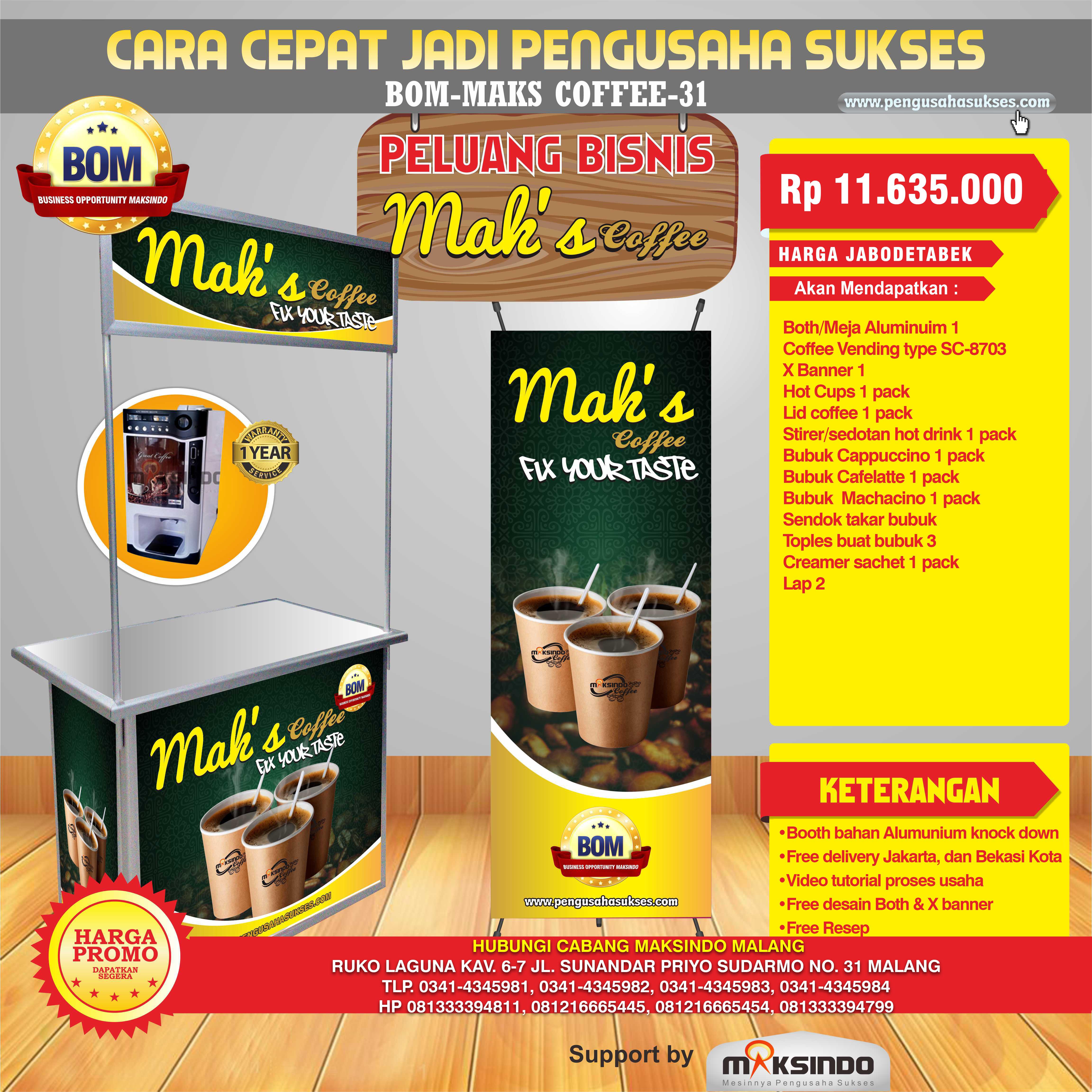 Peluang Usaha Mak's Coffe Program BOM