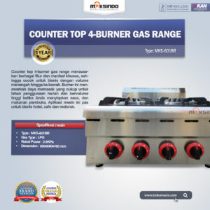 Jual Counter Top 4-Burner Gas Range di Malang