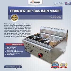 Jual Counter Top Gas Bain Marie MKS-605BM di Malang