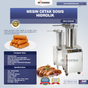 Jual Mesin Cetak Sosis Hidrolik MKS-HDS280 di Malang