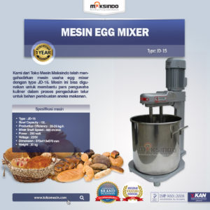 Jual Mesin Egg Mixer JD-15 di malang