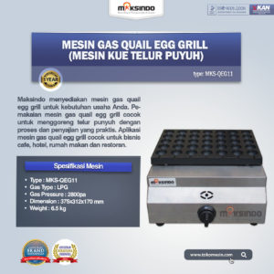 Mesin Gas Quail Egg Grill
