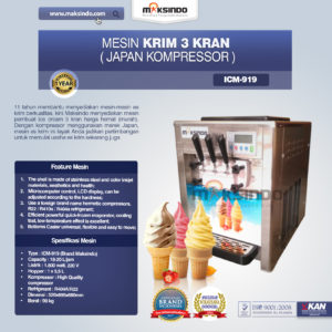 Jual Mesin Es Krim Rainbow 3 Kran (ICM-919J) di Malang
