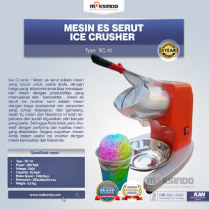 Jual Mesin Ice Crusher SC-10 di Malang