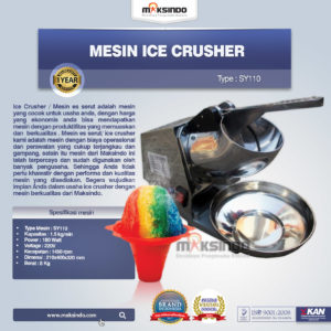 Jual Mesin Ice Crusher SY110 di Malang