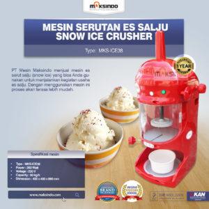 Jual Mesin Serutan Es Salju (Snow Ice Crusher) MKS-ICE38 di Malang
