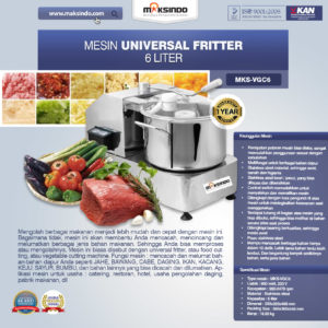 Jual Mesin Universal Fritter 6 liter (VGC6) di Malang