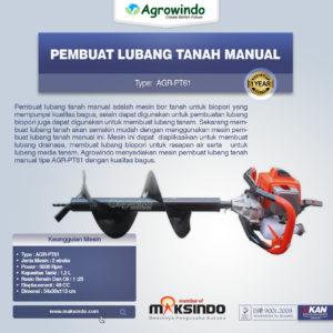 Jual Pembuat Lubang Tanah Manual (AGR-PT61) di Malang