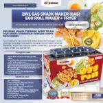 Jual Mesin Egg Roll Gas 2in1 Plus Fryer ERG007 Maksindo di Malang