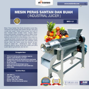 Jual Mesin Peras Santan dan Buah (Industrial Juicer) di Malang