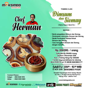 Training Usaha Dimsum & Siomay, 17 November 2018