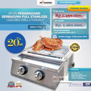 Jual Pemanggang Serbaguna – Gas BBQ Grill 2 Tungku Full Stainless di Malang