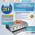 Jual Pemanggang Serbaguna – Gas BBQ Grill 6 Tungku Malang