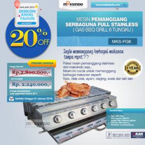 Jual Pemanggang Serbaguna – Gas BBQ Grill 6 Tungku di Malang