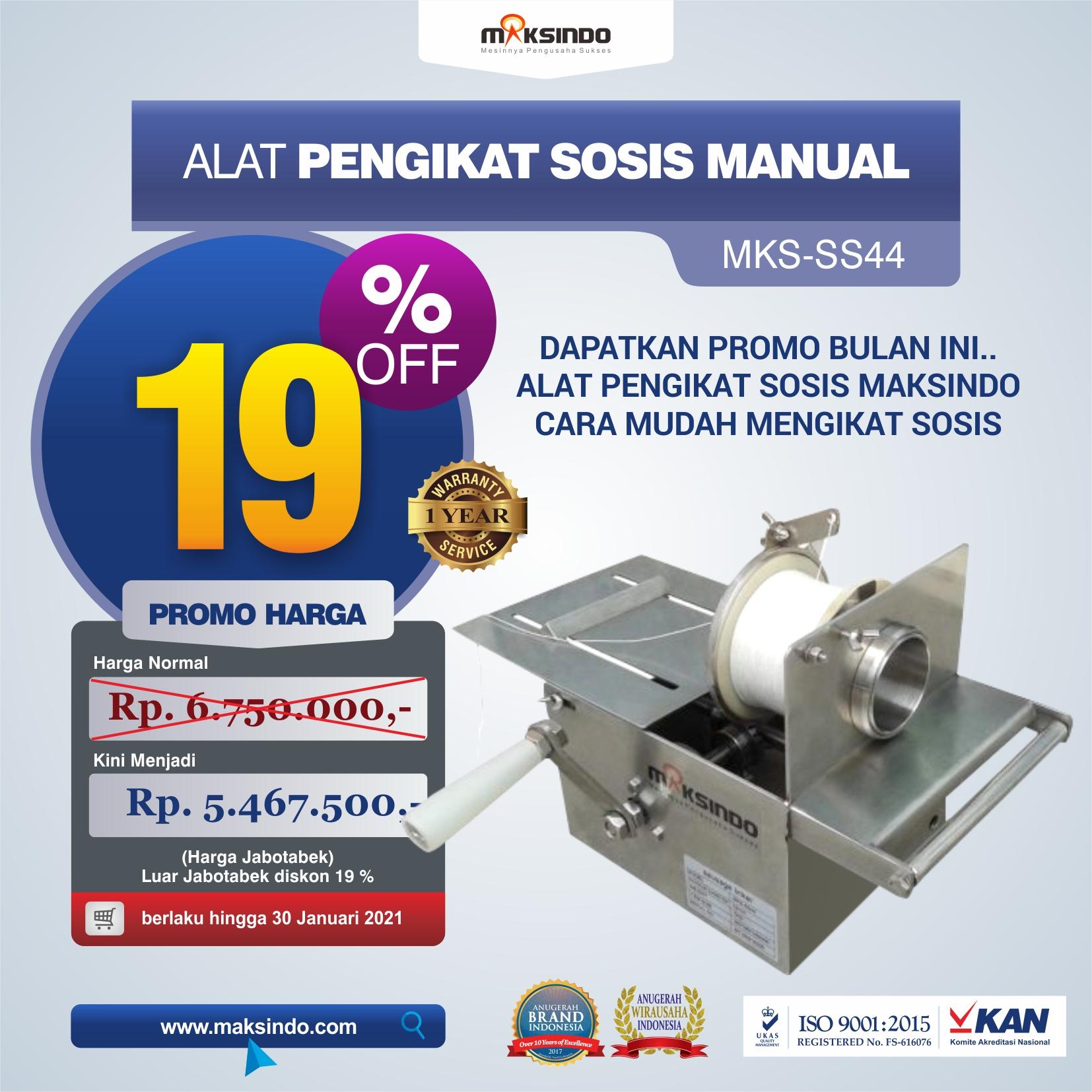 Jual Alat Pengikat Sosis Manual (MKS-SS44) di Malang