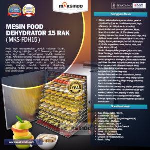 Jual Mesin Food Dehydrator 15 Rak (FDH15) di Malang