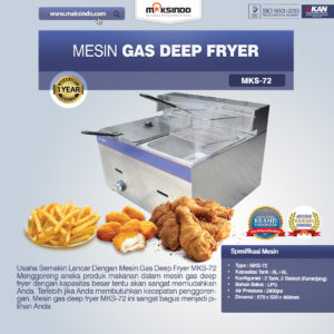 Jual Mesin Gas Deep Fryer MKS-72 di Malang
