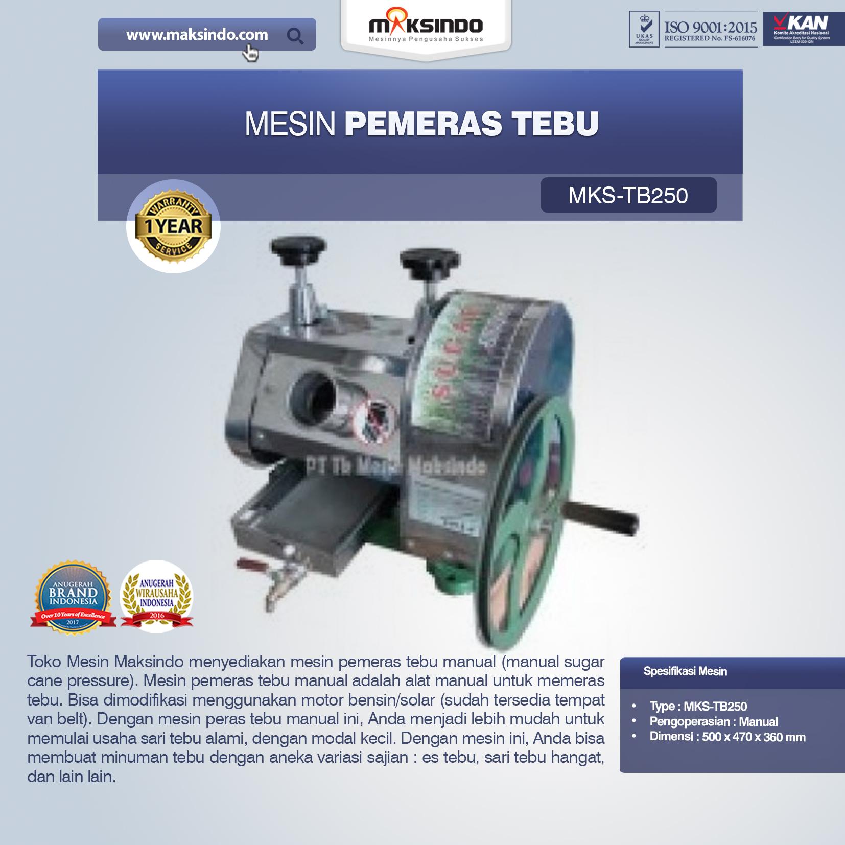 Jual Mesin Pemeras Tebu (Giling Tebu) di Malang