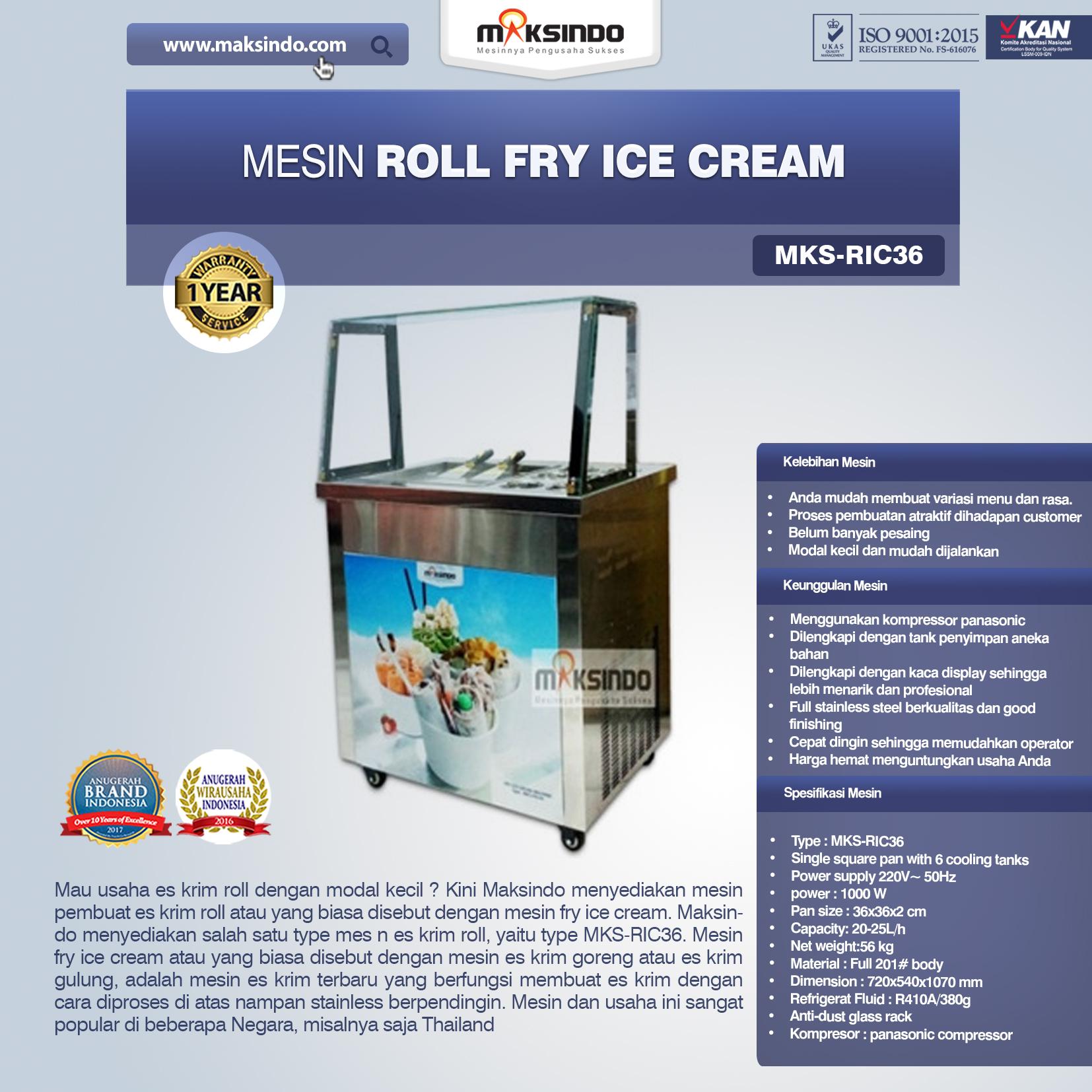 Jual Mesin Roll Fry Ice Cream RIC36 di Malang