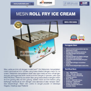 Jual Mesin Roll Fry Ice Cream RIC36x2 di Malang