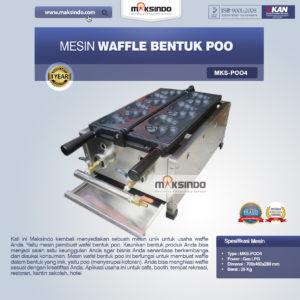 Jual Mesin Waffle Bentuk Poo (MKS-POO4) di Malang