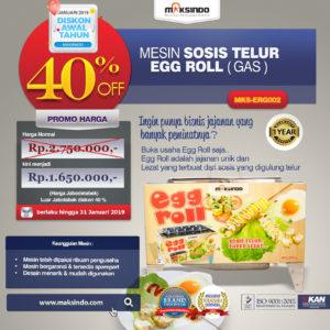 Jual Mesin Pembuat Egg Roll (Gas) MKS-ERG002 di Malang