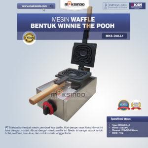 Jual Mesin Waffle Bentuk Winnie The Pooh MKS-DOLL1 di Malang