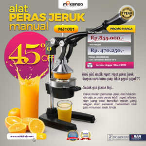 Jual Alat Pemeras Jeruk Manual (MJ1001) di Malang