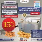 Jual Mesin Gas Fryer MKS-G20L + Keranjang Long Potato Di Malang
