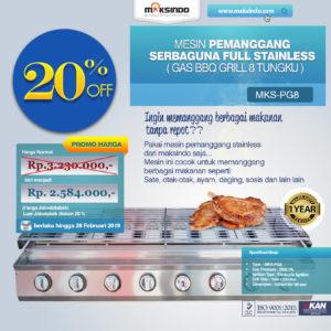 Jual Pemanggang Serbaguna – Gas BBQ Grill 8 Tungku di Malang
