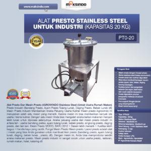 Jual Mesin Presto Stainless Steel Untuk Industri di Malang